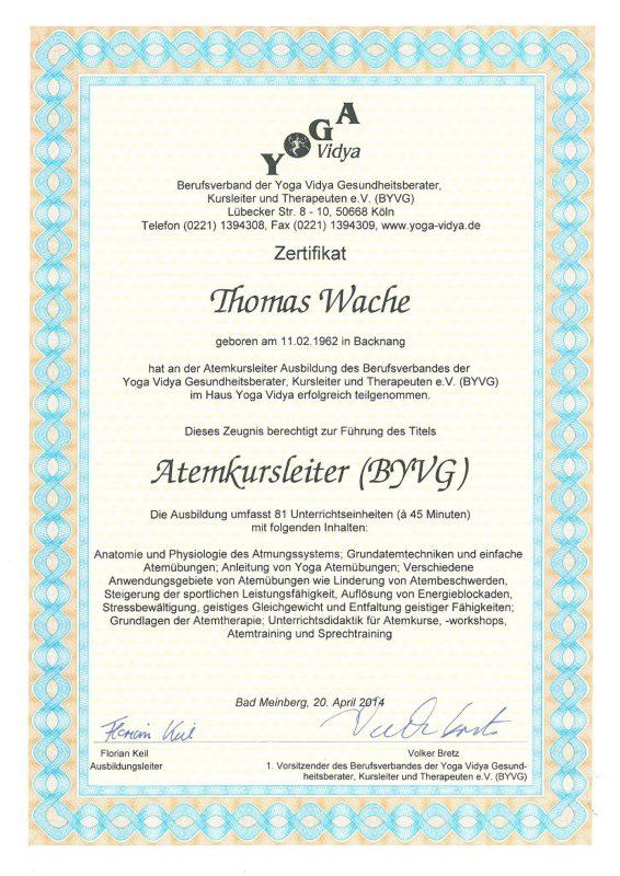 Thomas Wache Atemkursleiter BYVG
