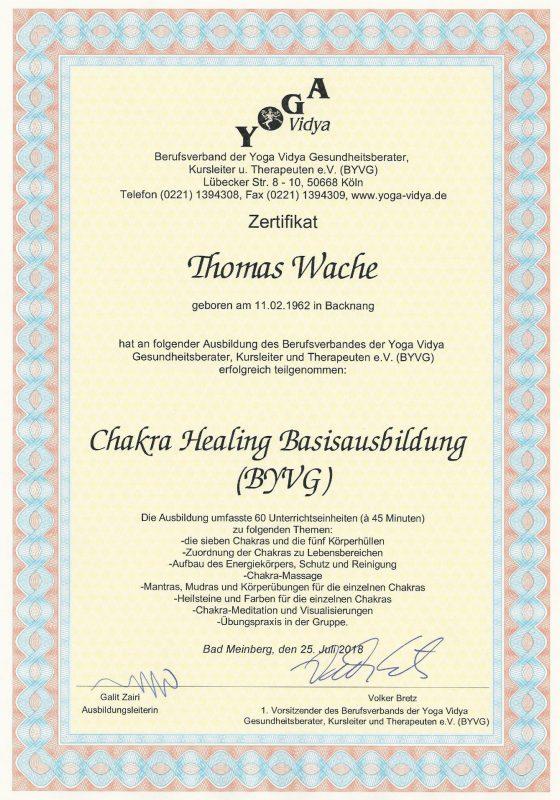 Thomas Wache Chakra Healing Basis Ausbildung