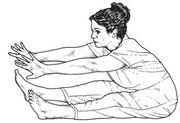 Dehnübung für den Nieren und Blasen Meridian