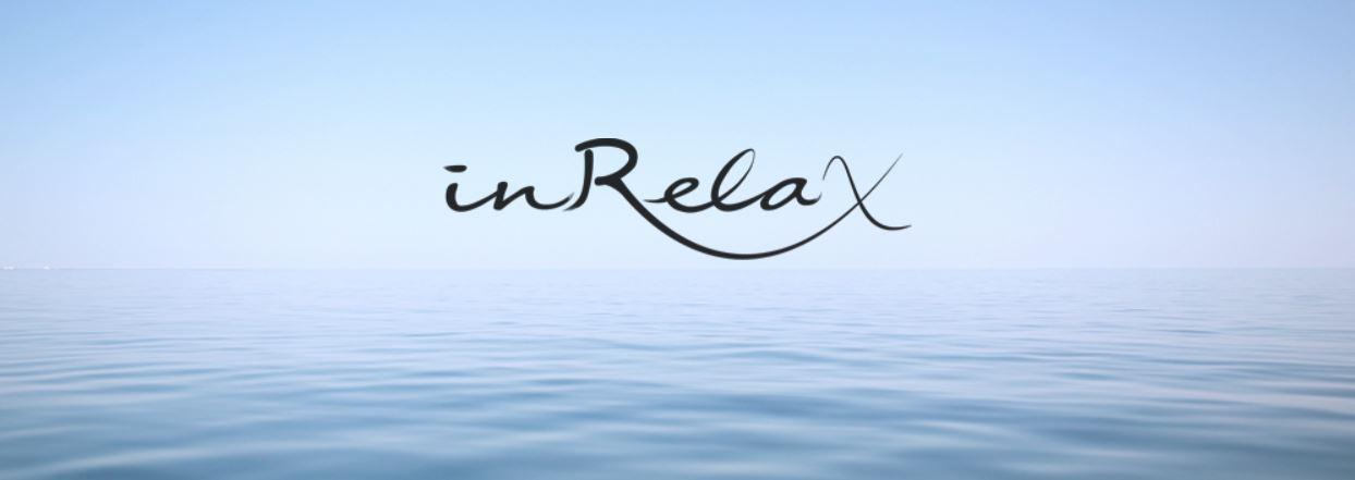 inRelax Logo mit Meeres Hintergrund