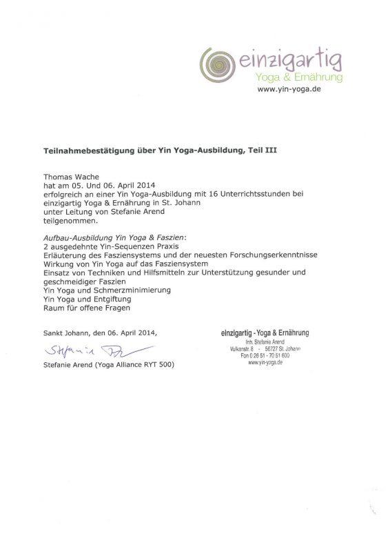 inRelax Shiatsu - Yin Yoga und die Faszien